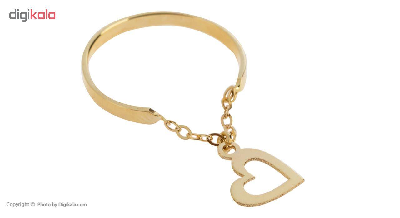 انگشتر طلا 18 عیار بهگلد طرح قلب