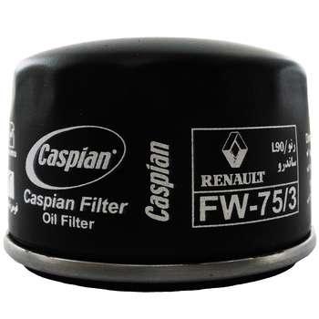 فیلتر روغن خودروی کاسپین مدل FW-75/3 مناسب برای رنو ساندرو
