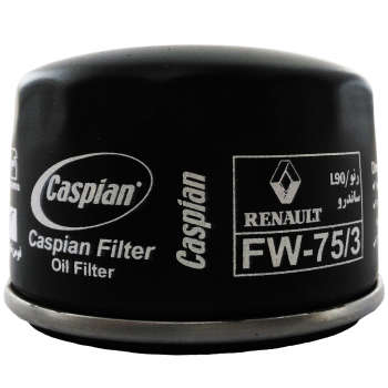 فیلتر روغن خودروی کاسپین مدل FW-75/3 مناسب برای رنو L90
