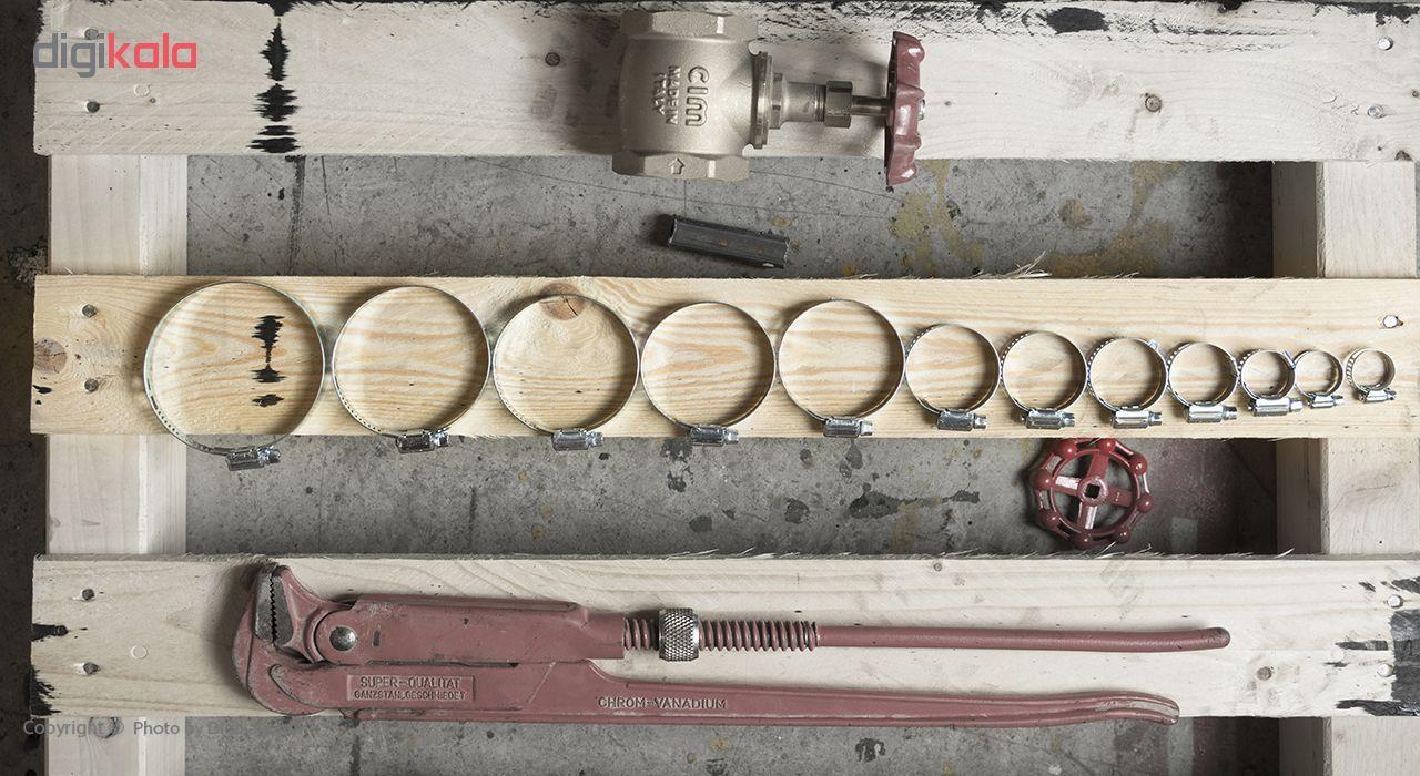 بست فلزی پارسان مدل P034 سایز 13-19 میلیمتر بسته 10 عددی main 1 7