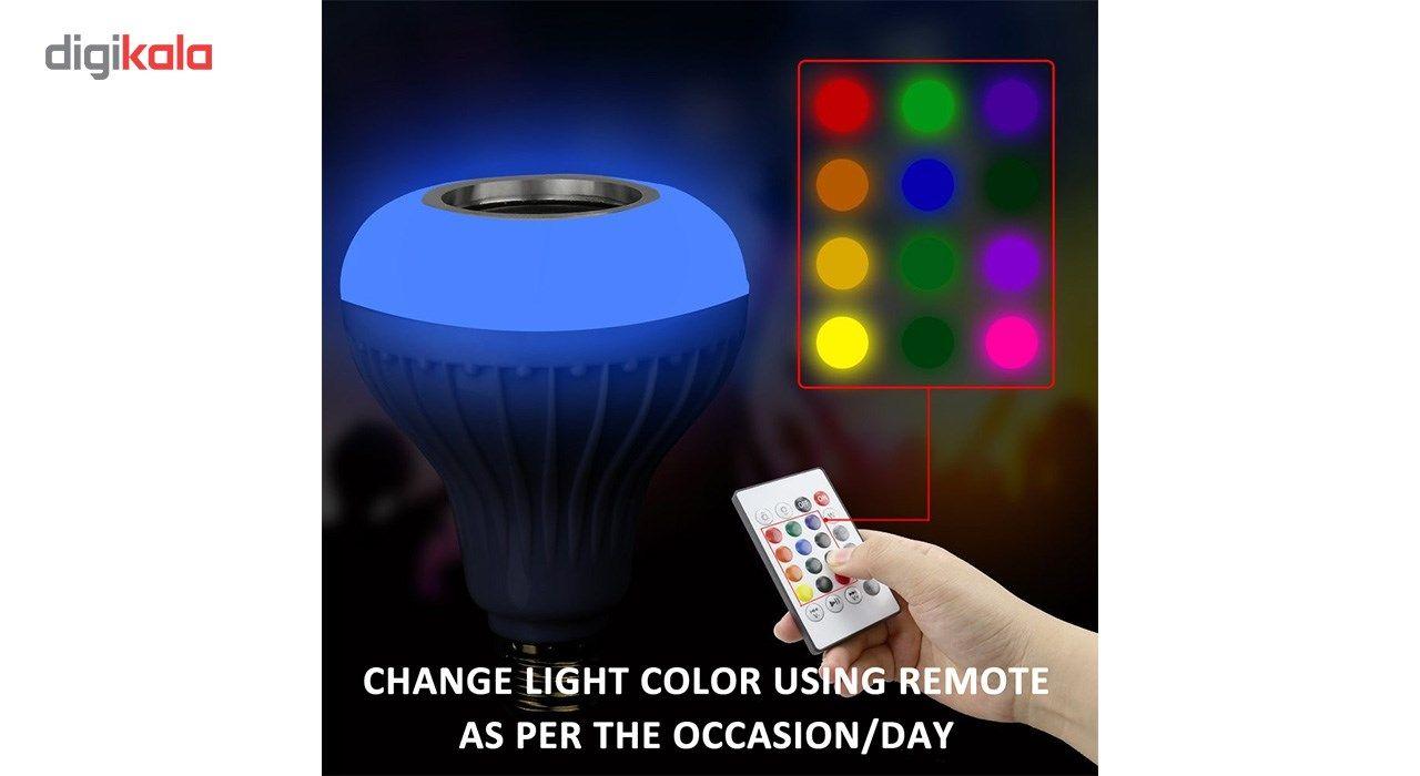لامپ هوشمند و اسپیکر بلوتوث دیوایس کد Music Bulb  main 1 4