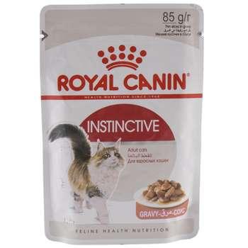 پوچ گربه بالغ بالای ۱۲ ماه رویال کنین مدل INSTINCTIVE وزن 85 گرم