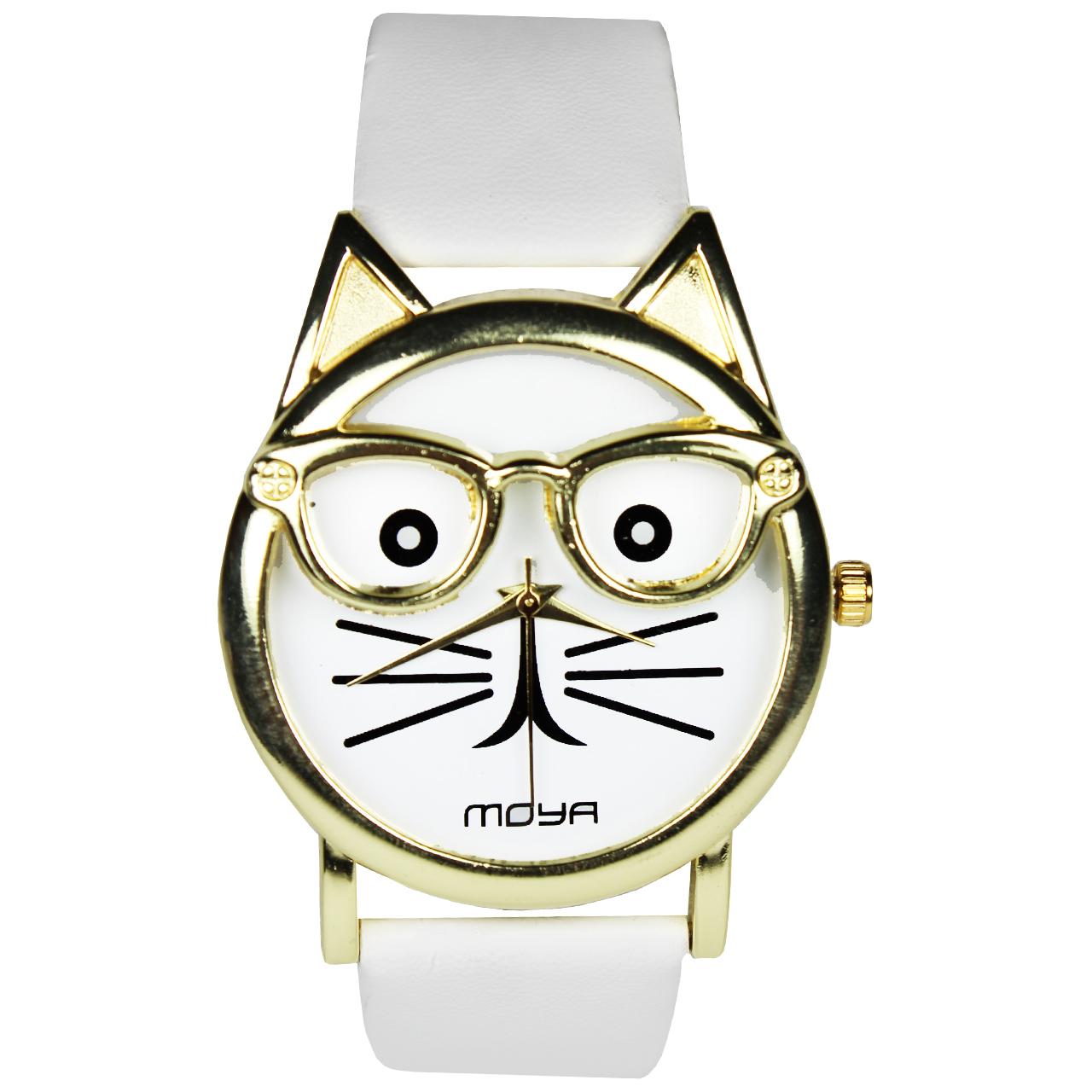 ساعت زنانه برند مویا طرح گربه 003