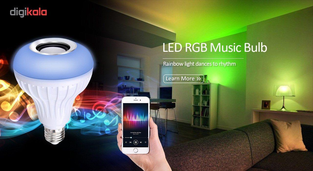 لامپ هوشمند و اسپیکر بلوتوث دیوایس کد Music Bulb  main 1 5
