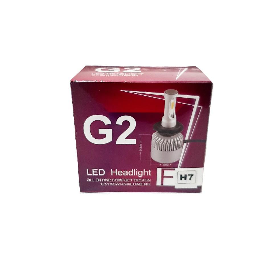 لامپ هدلایت خودرو جی۲ مدل H7 بسته دو عددی main 1 1