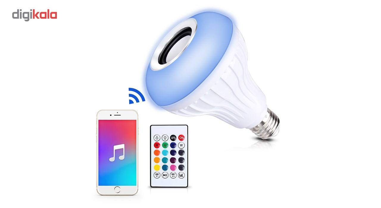 لامپ هوشمند و اسپیکر بلوتوث دیوایس کد Music Bulb  main 1 7