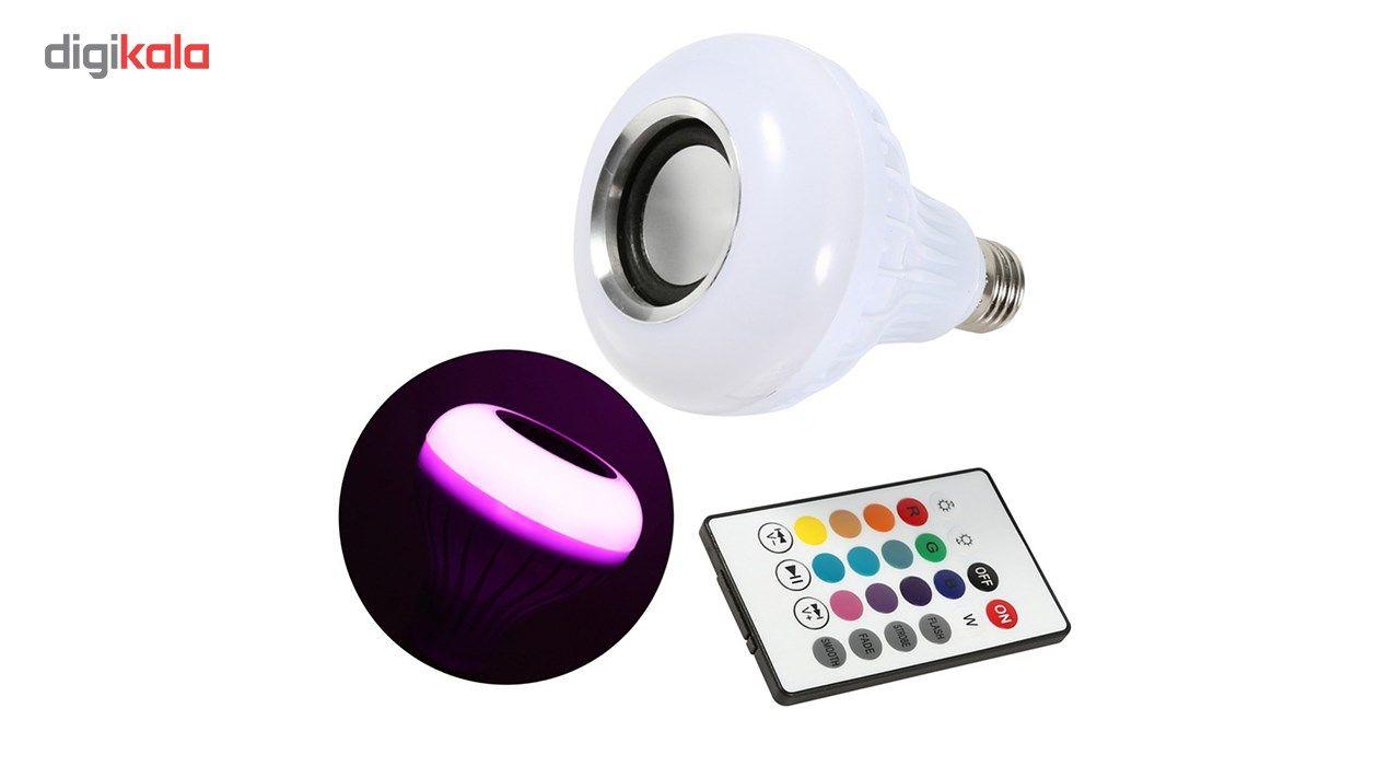 لامپ هوشمند و اسپیکر بلوتوث دیوایس کد Music Bulb  main 1 8