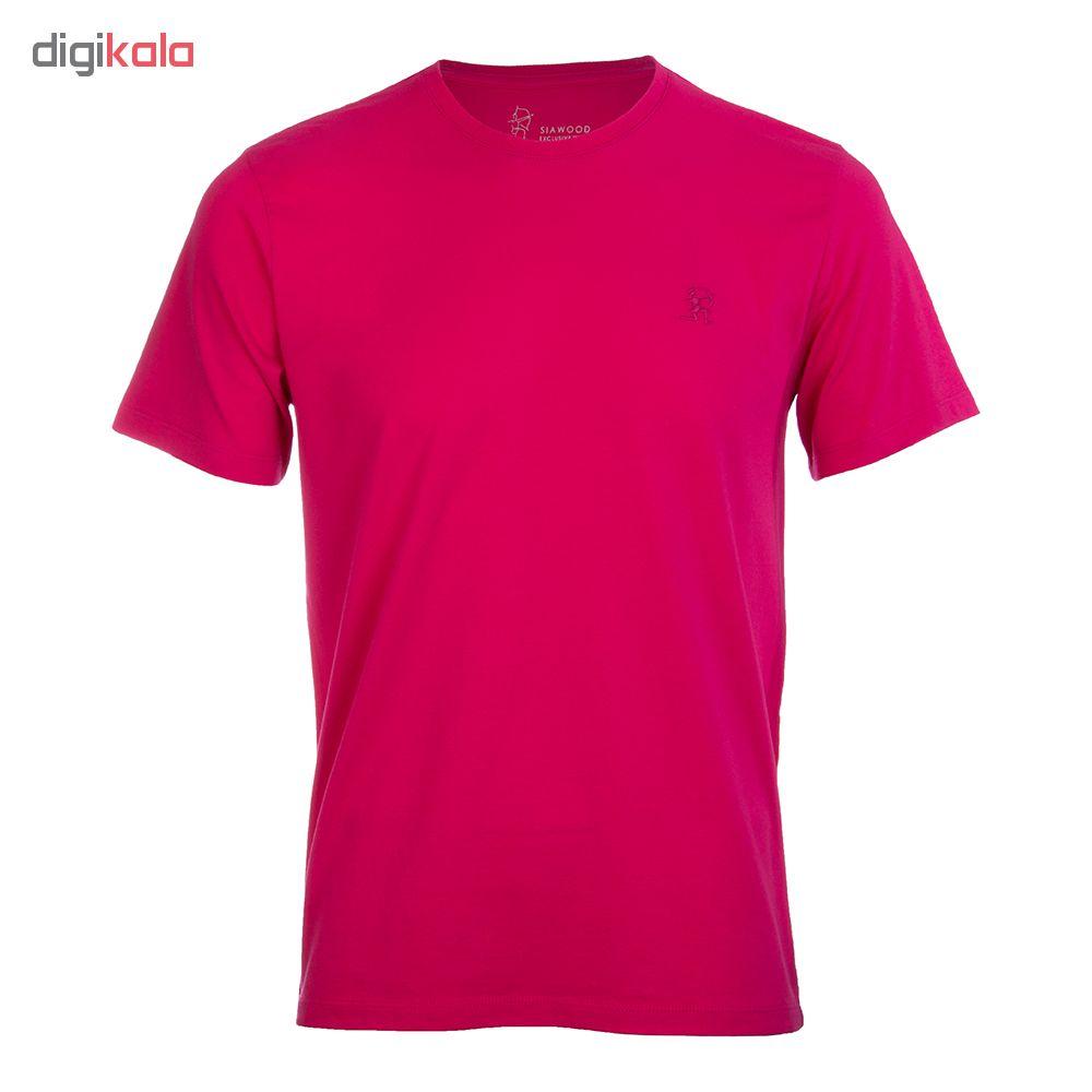 تی شرت مردانه سیاوود  مدل CNECK-32818 R0067 سرخابی
