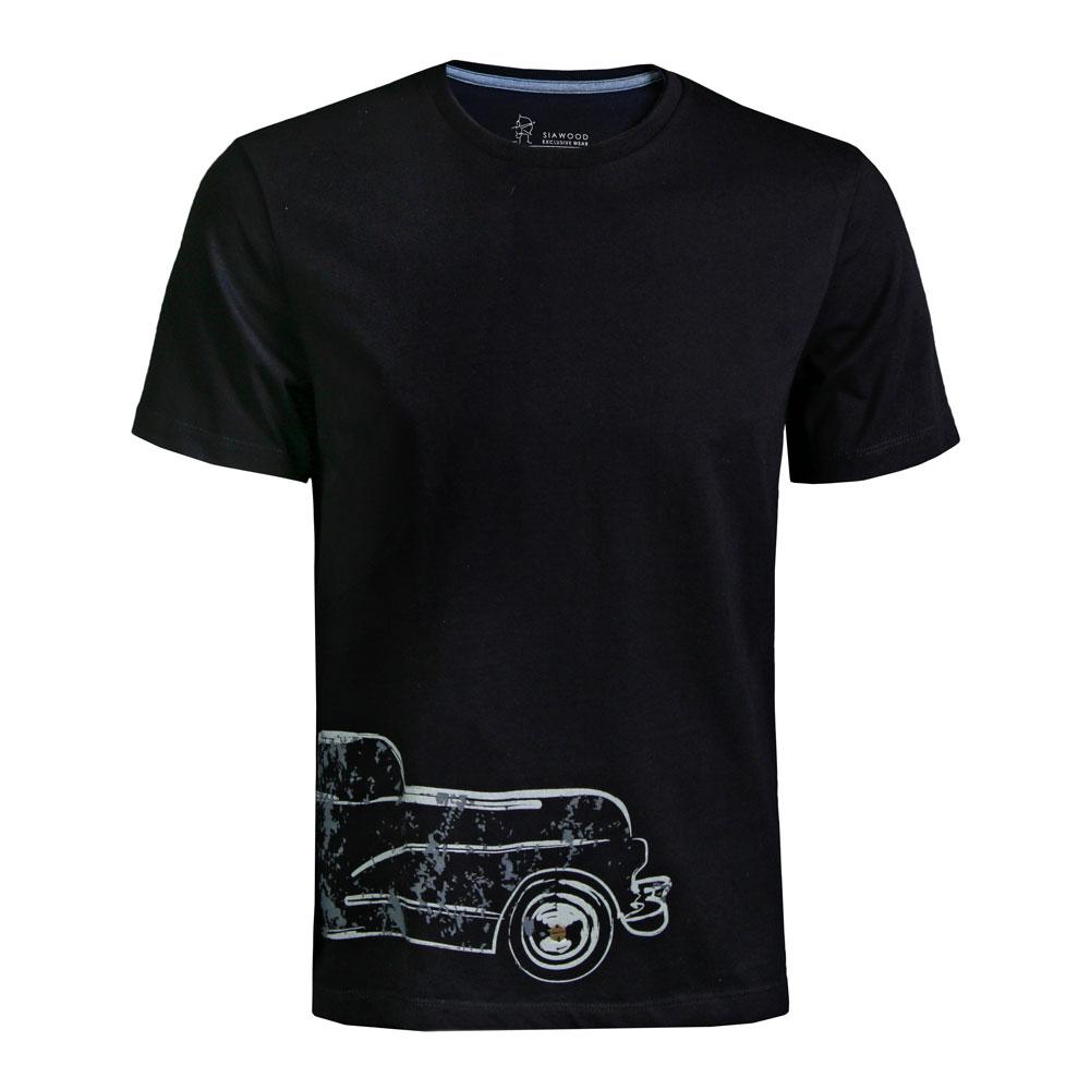 تی شرت مردانه سیاوود  مدل CNECK-CAR-32810S0006 -مشکی