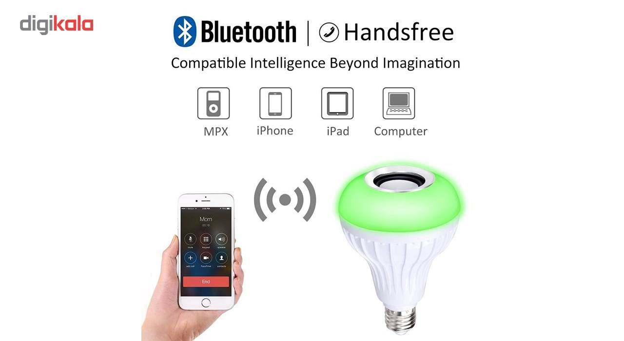 لامپ هوشمند و اسپیکر بلوتوث دیوایس کد Music Bulb  main 1 9
