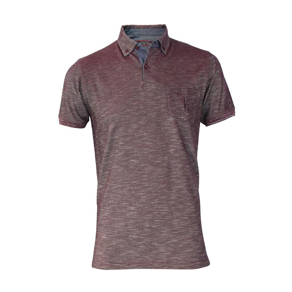 تي شرت مردانه سیاوود  مدل POLO-SLAP-79054-زرشکيW0045