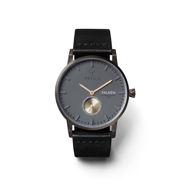 ساعت مچی عقربه ای تریوا مدل Walter Falken Black 14