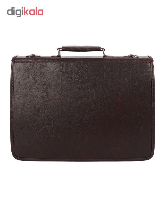 کیف اداری مردانه رویال چرم کد BF3-DarkBrown