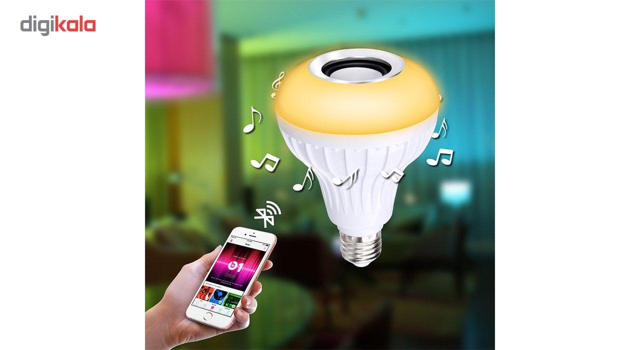 لامپ هوشمند و اسپیکر بلوتوث دیوایس کد Music Bulb  main 1 12