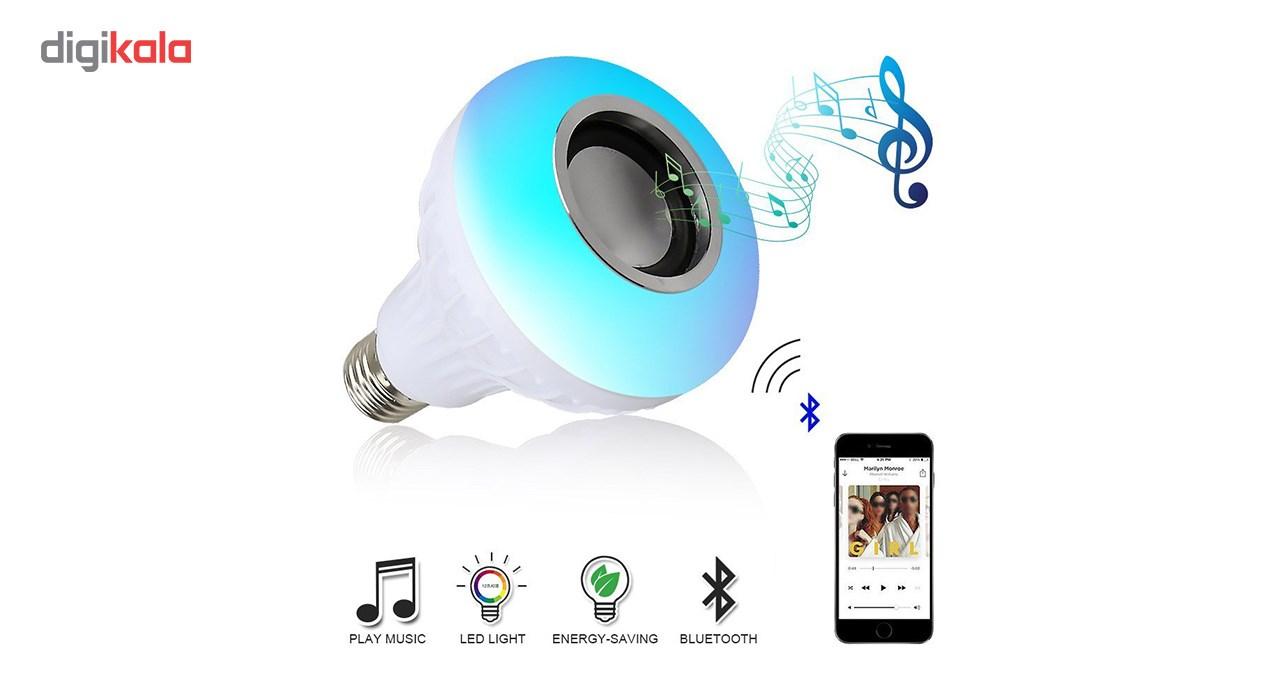 لامپ هوشمند و اسپیکر بلوتوث دیوایس کد Music Bulb  main 1 15