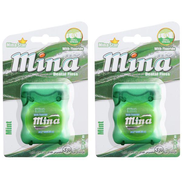 نخ دندان مینا مدل Mint Narrow بسته 2 عددی