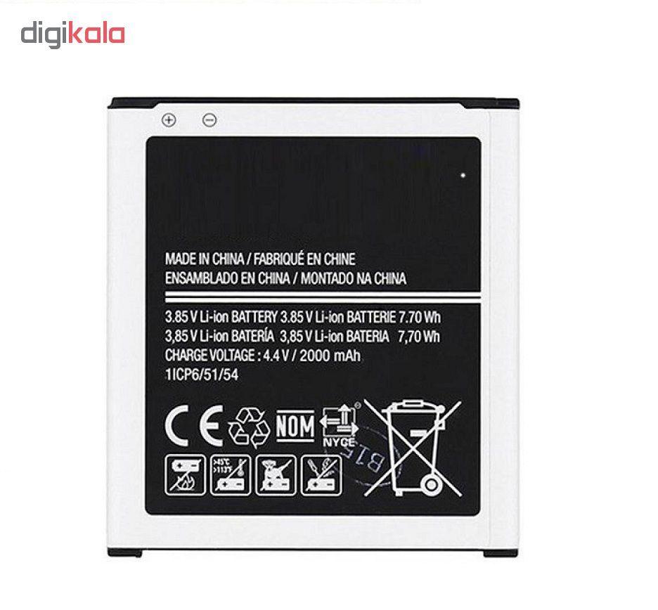 باتری موبایل مدل EB-BG360CBC ظرفیت 2000 میلی آمپر ساعت مناسب برای گوشی موبایل سامسونگ J2 2015 main 1 1