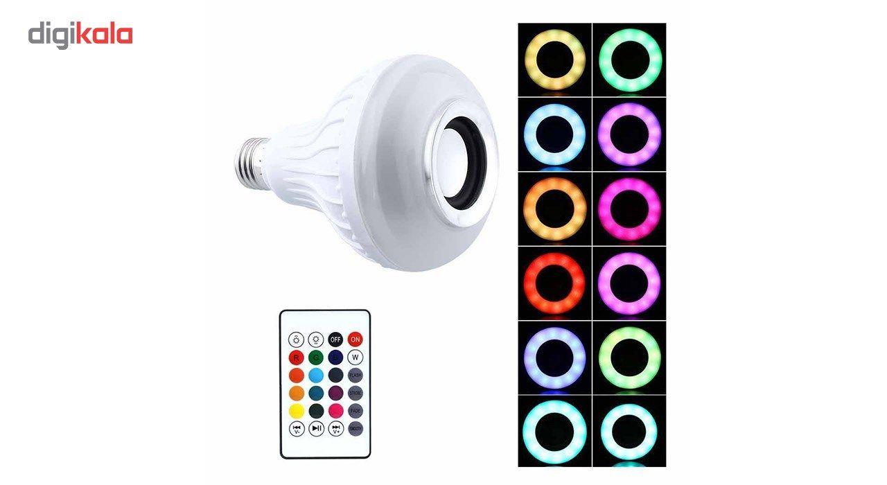 لامپ هوشمند و اسپیکر بلوتوث دیوایس کد Music Bulb  main 1 18