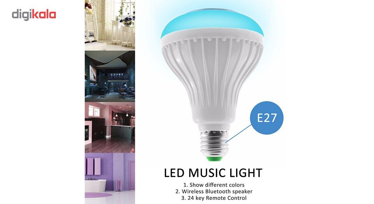 لامپ هوشمند و اسپیکر بلوتوث دیوایس کد Music Bulb  main 1 19