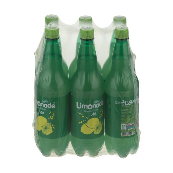 نوشابه لیموناد گازدار زمزم - 1 لیتر بسته 6 عددی