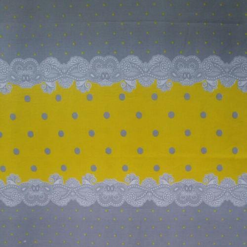 پارچه ملحفه مدل ثنا رنگ طوسی و زرد