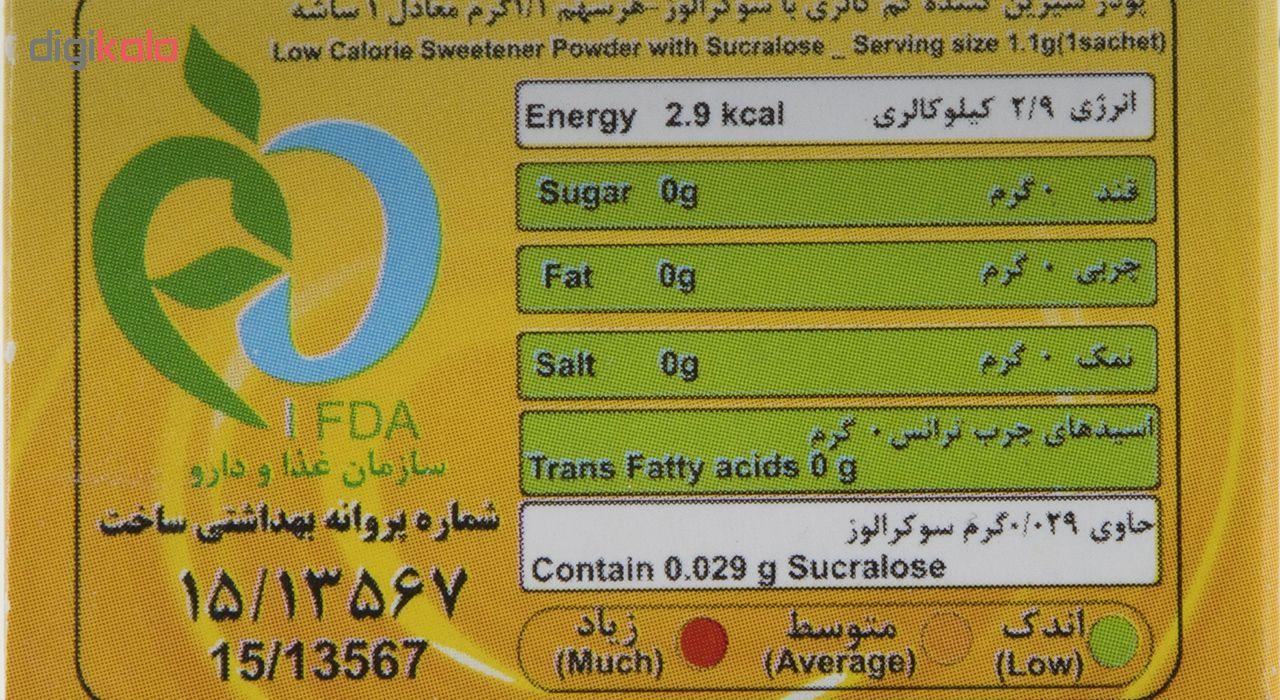 پودر شیرین کننده بدون قند کم کالری کامور بسته 50 عددی