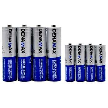 باتری قلمی و نیم قلمی دنا مکس مدل Super Power بسته 8 عددی