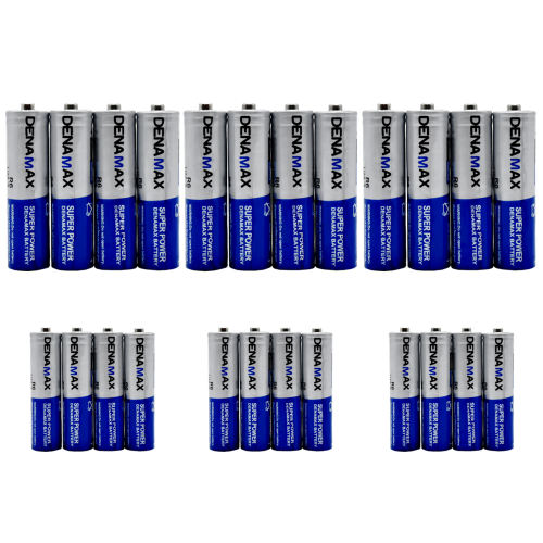 باتری قلمی و نیم قلمی دنا مکس مدل Super Power بسته 24 عددی