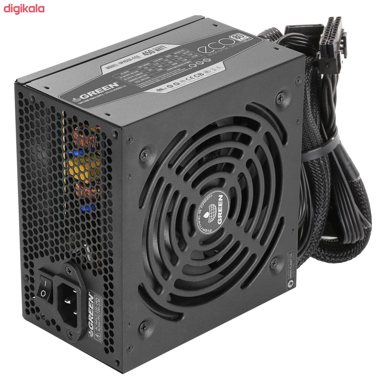 منبع تغذیه کامپیوتر گرین مدل GP450A-ECO Rev3.1 main 1 2