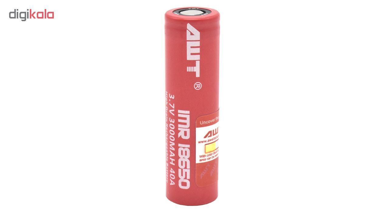باتری شارژی ای دبلیو تی مدل IMR 18650   main 1 1