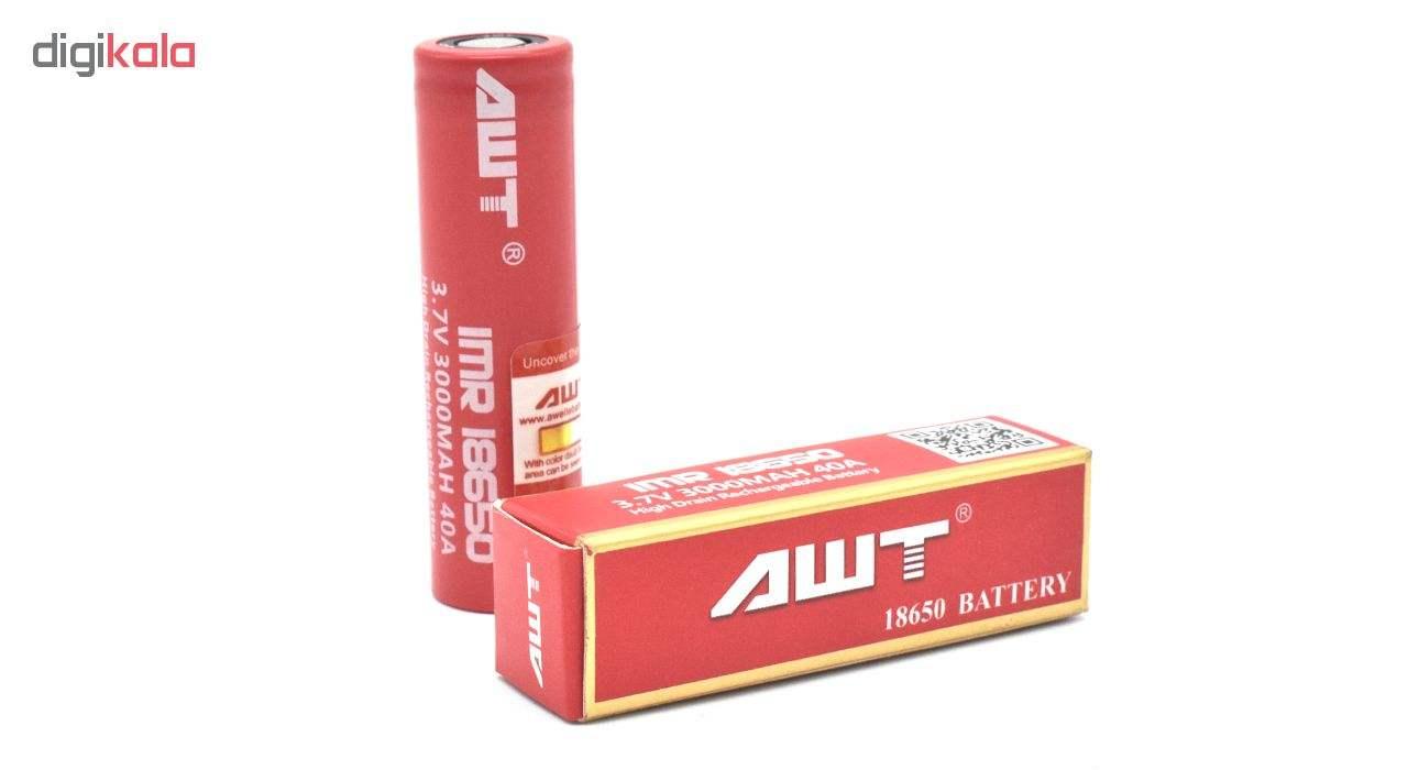 باتری شارژی ای دبلیو تی مدل IMR 18650   main 1 2