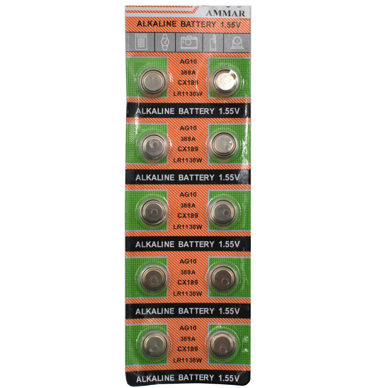 باتری AG10 آلکالین ام مار بسته 10 عددی
