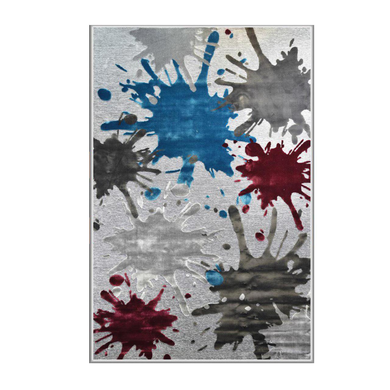 خرید                       فرش ماشینی طرح شنل کد 3004 زمینه طوسی