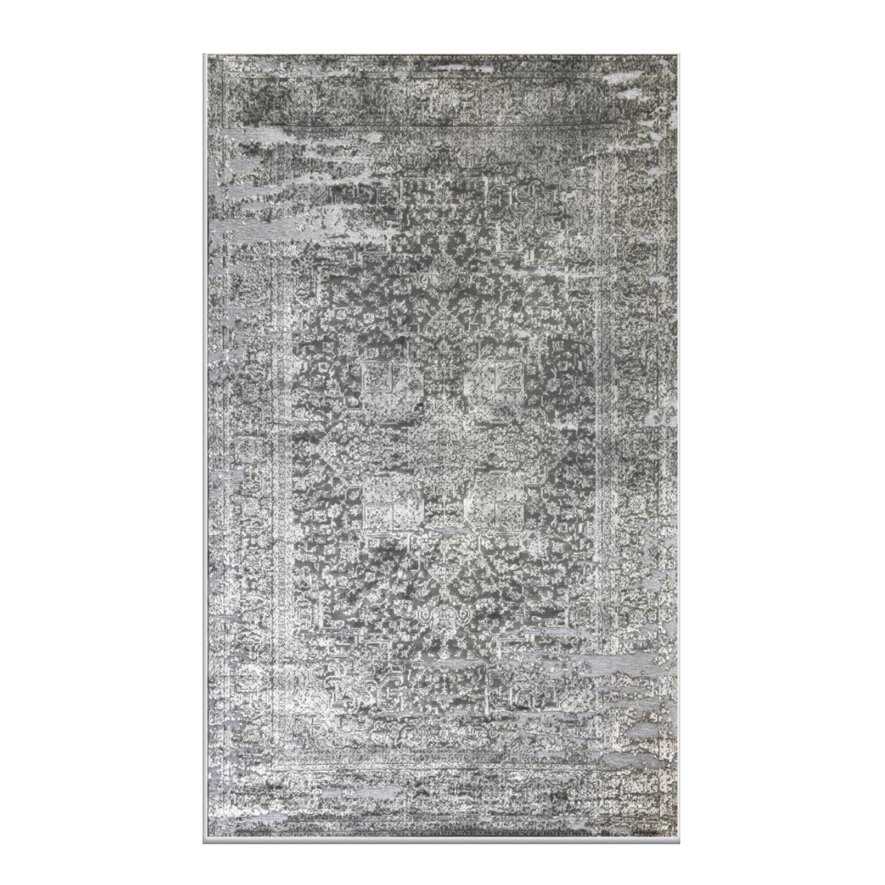 فرش ماشینی طرح پتینه کد2013 زمینه  طوسی