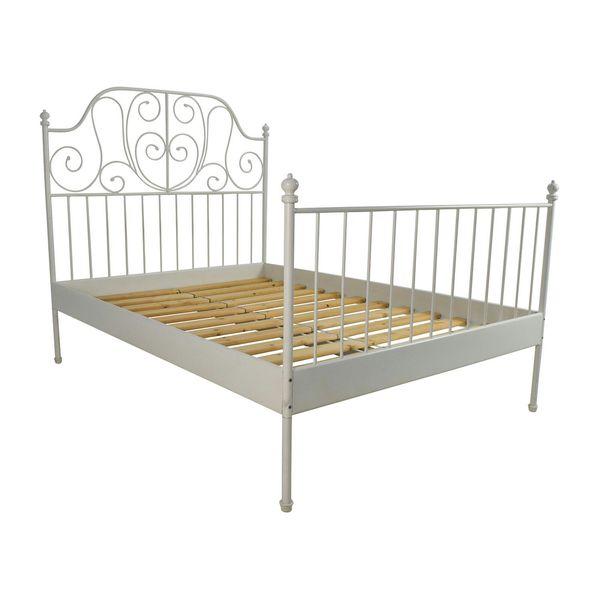 تخت خواب2نفره مدل لیرویک | LEIRVIK BED FRAM 2 PERSON