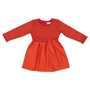 پیراهن دخترانه آر جی کیدز استور مدل Red01