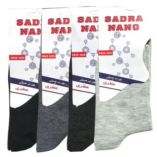 جوراب مردانه صدرا کد 3007 بسته 4 عددی