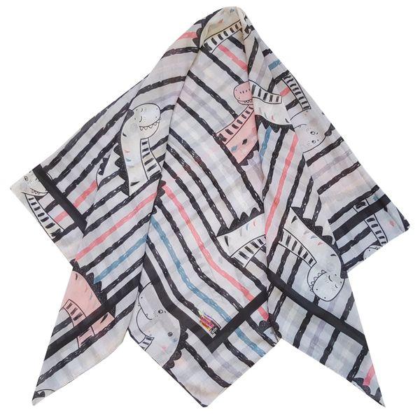 روسری دخترانه ترمه گالری مدل داییناسور کد san82-58