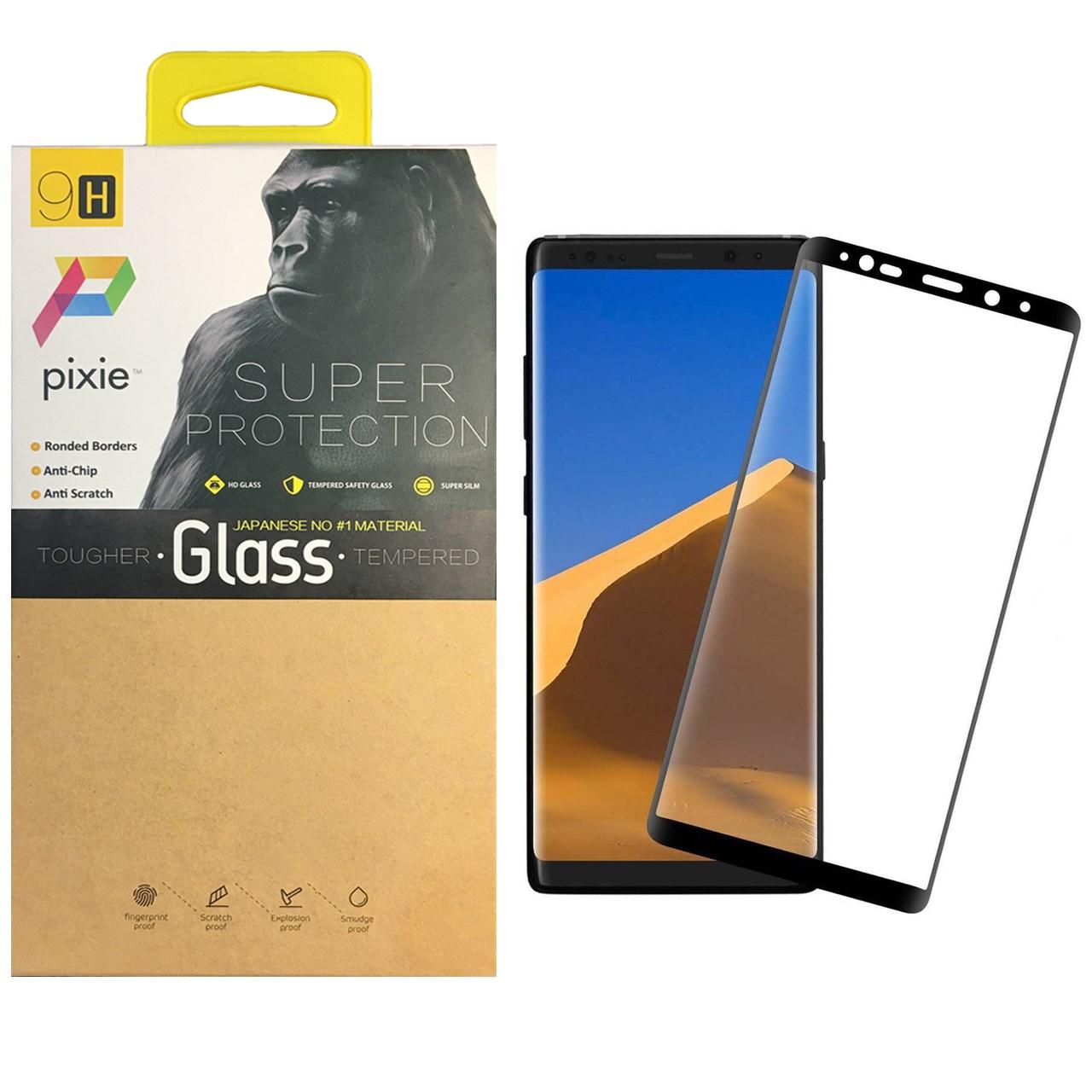 محافظ صفحه نمایش  تمام چسب شیشه ای پیکسی مدل 3D  مناسب برای گوشی سامسونگ Note 8