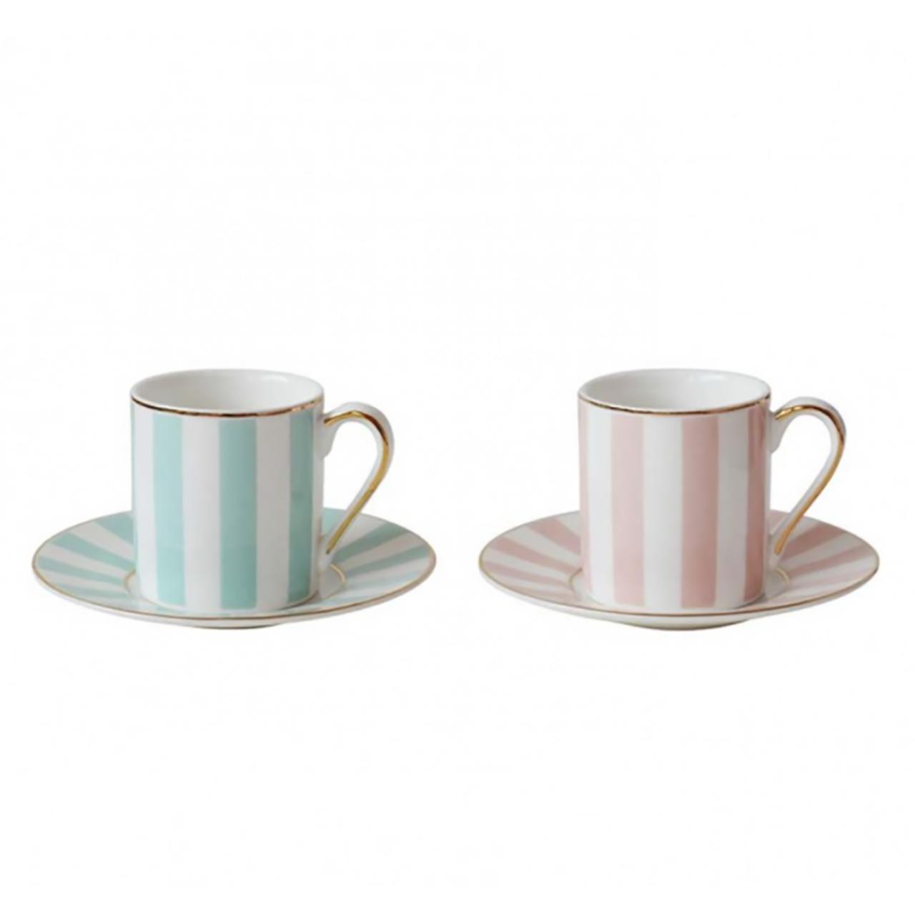 فنجان و نعلبکی  بامبی داک مدل Pink and Mint بسته 2 عددی