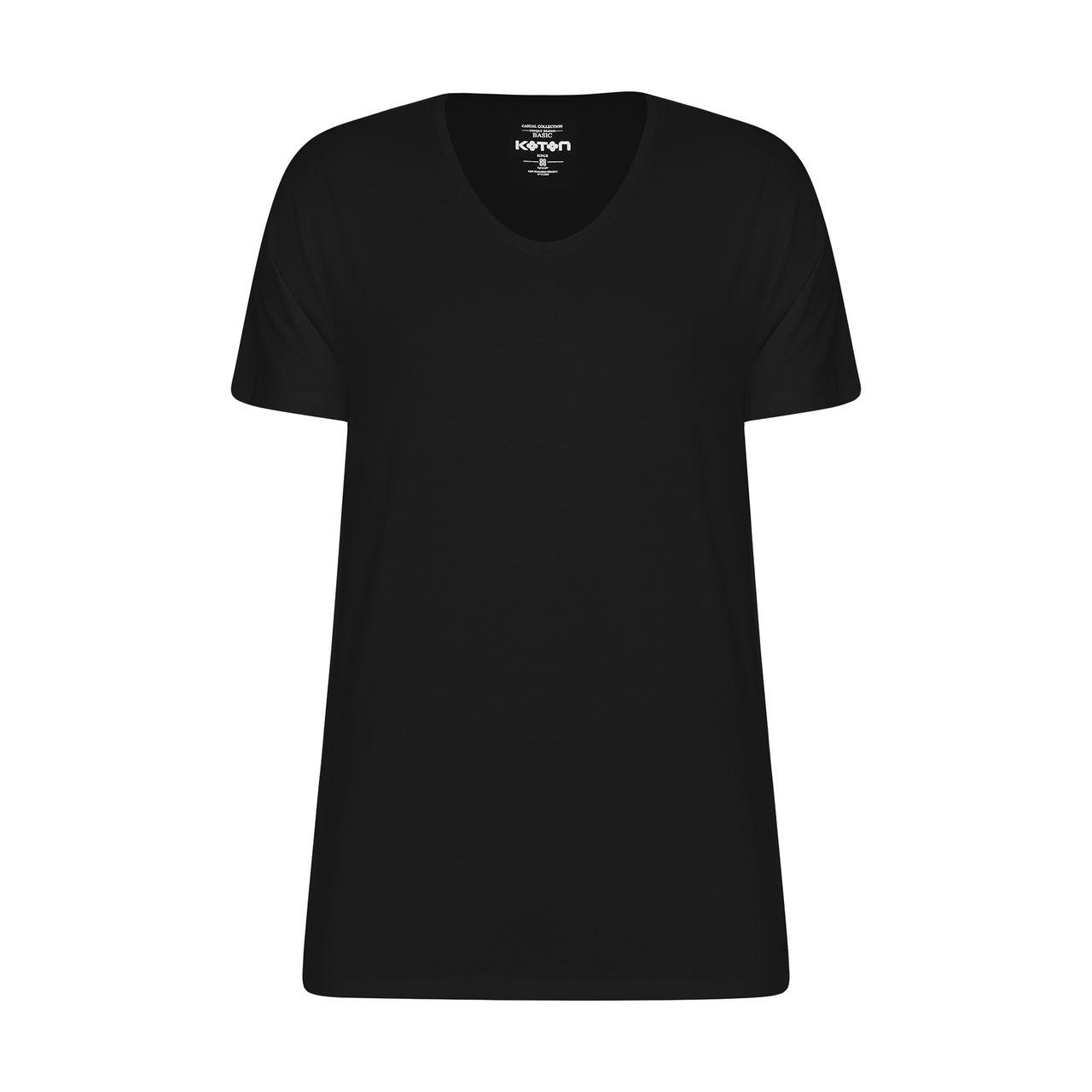 تیشرت آستین کوتاه مردانه کوتون مدل 8YAM15139LK-999