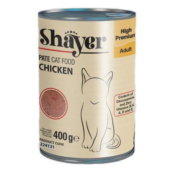 کنسرو غذای گربه شایر مدل مرغ وزن 400 گرم