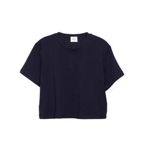 تی شرت آستین کوتاه زنانه کوی مدل 370 رنگ سرمه ای