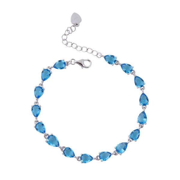 دستبند نقره زنانه بازرگانی میلادی کد DP_027