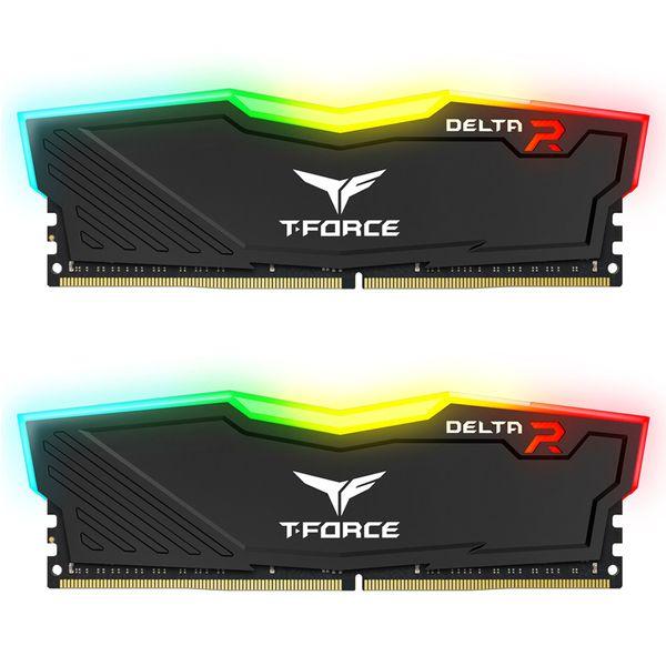 رم دسکتاپ DDR4 دو کاناله 3600 مگاهرتز CL18 تیم گروپ مدل DELTA RGB ظرفیت 32 گیگابایت