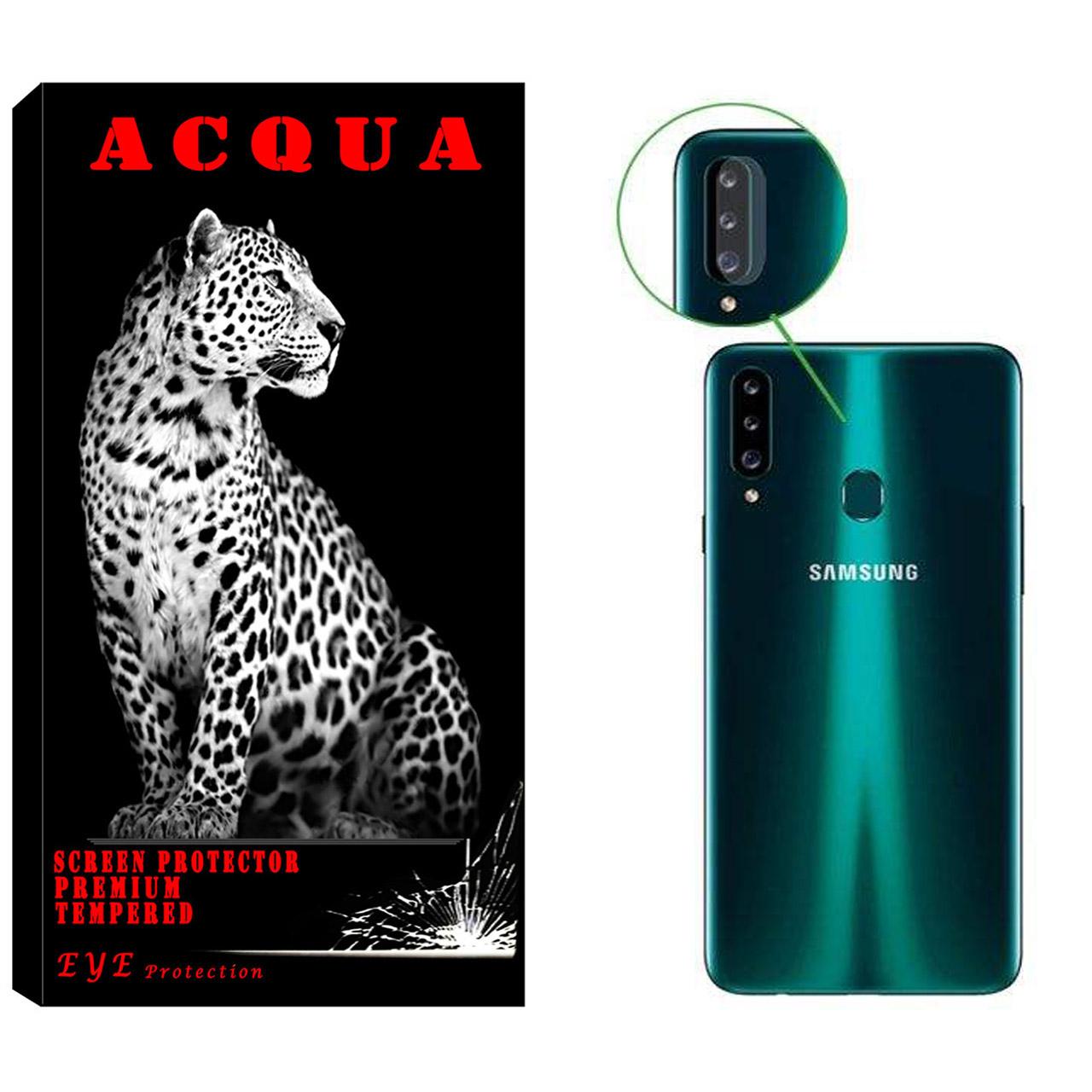 محافظ لنز دوربین آکوا مدل LN مناسب برای گوشی موبایل سامسونگ  Galaxy A20s