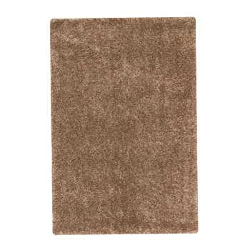 فرش ماشینی مدل شگی زمینه نسکافه ای