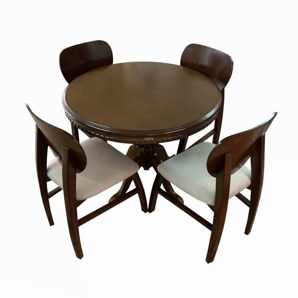 میز و صندلی ناهار خوری 4 نفره اسپرسان چوب مدل sm88