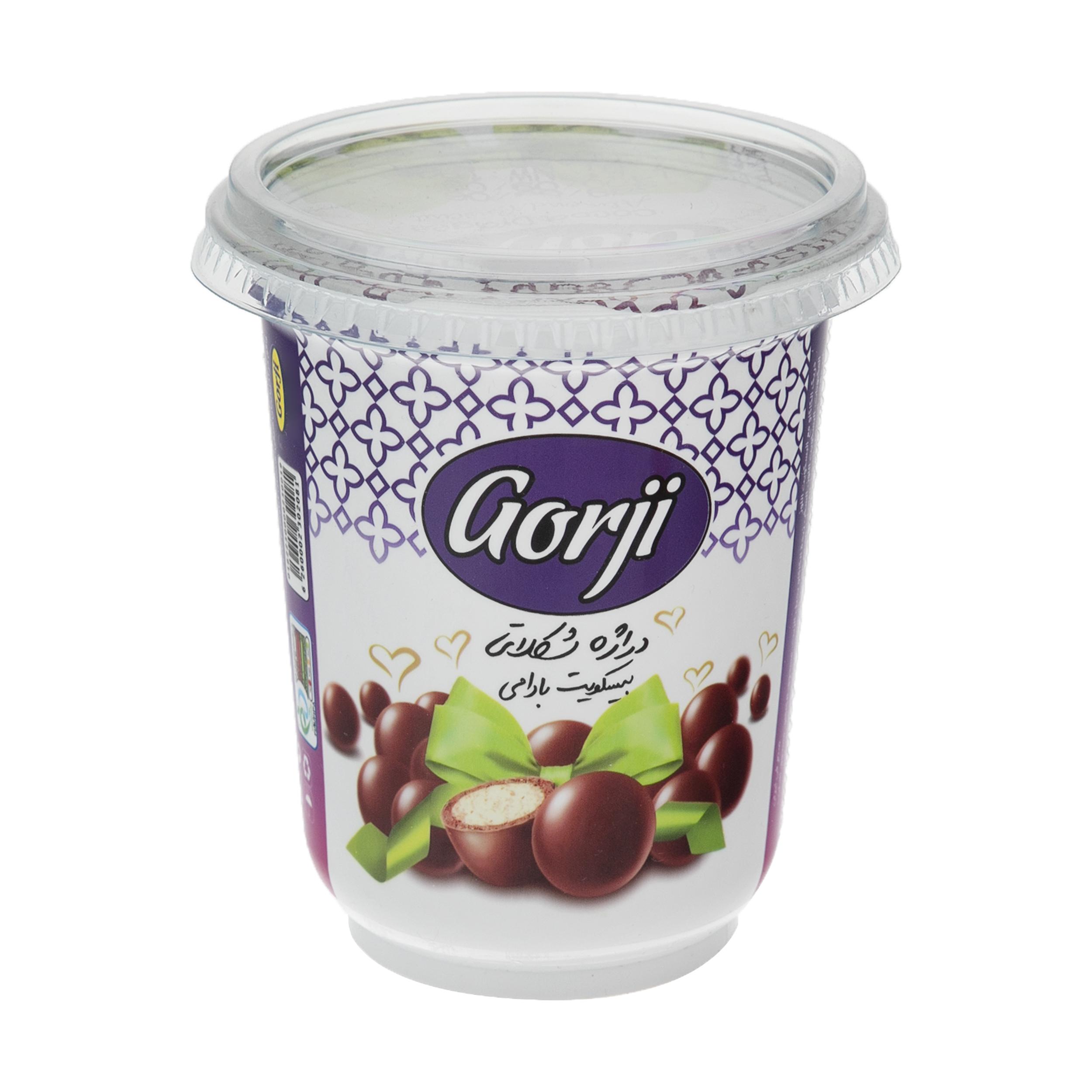 دراژه شکلاتی با بیسکویت بادامی گرجی - 120 گرم