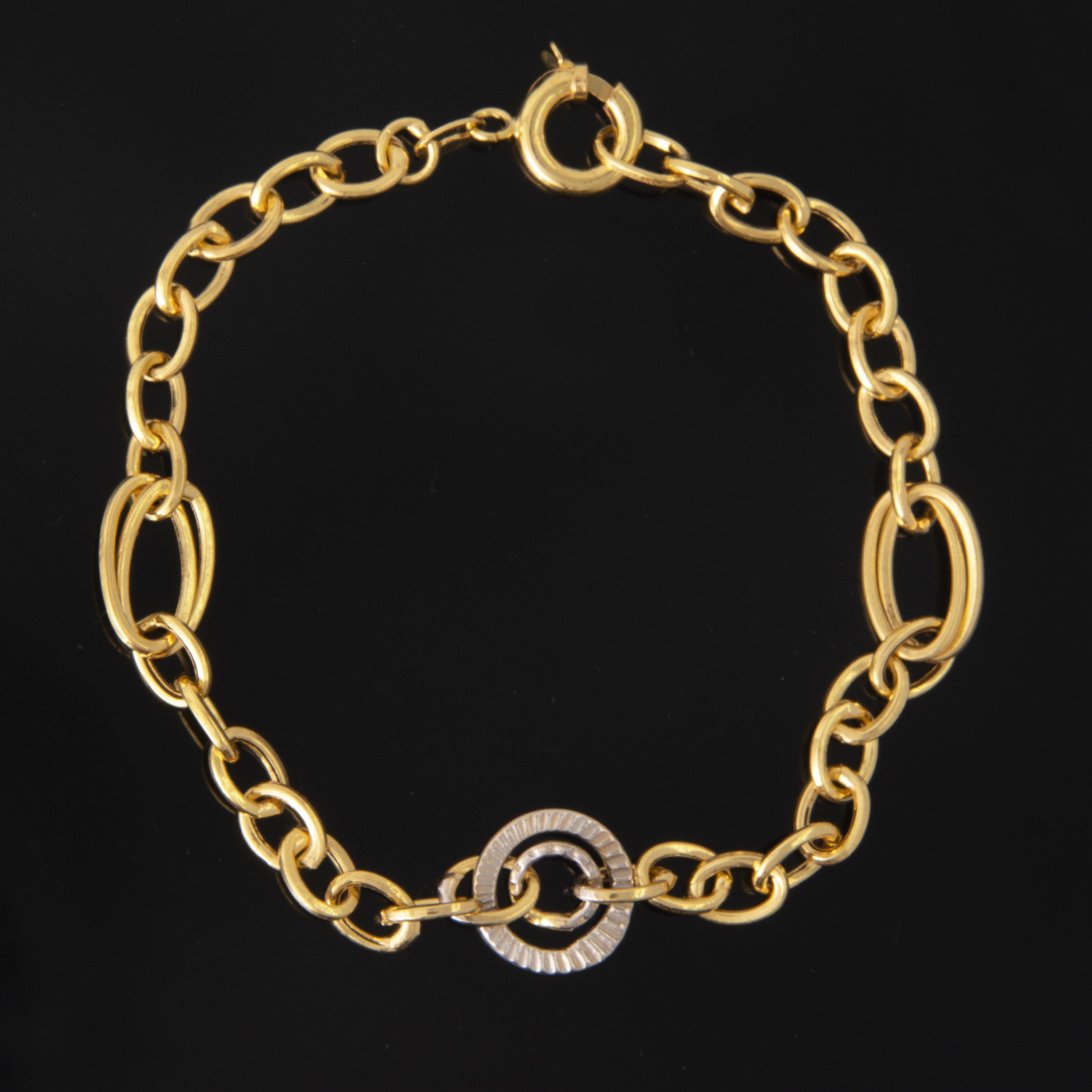 دستبند طلا 18 عیار زنانه کد 67129